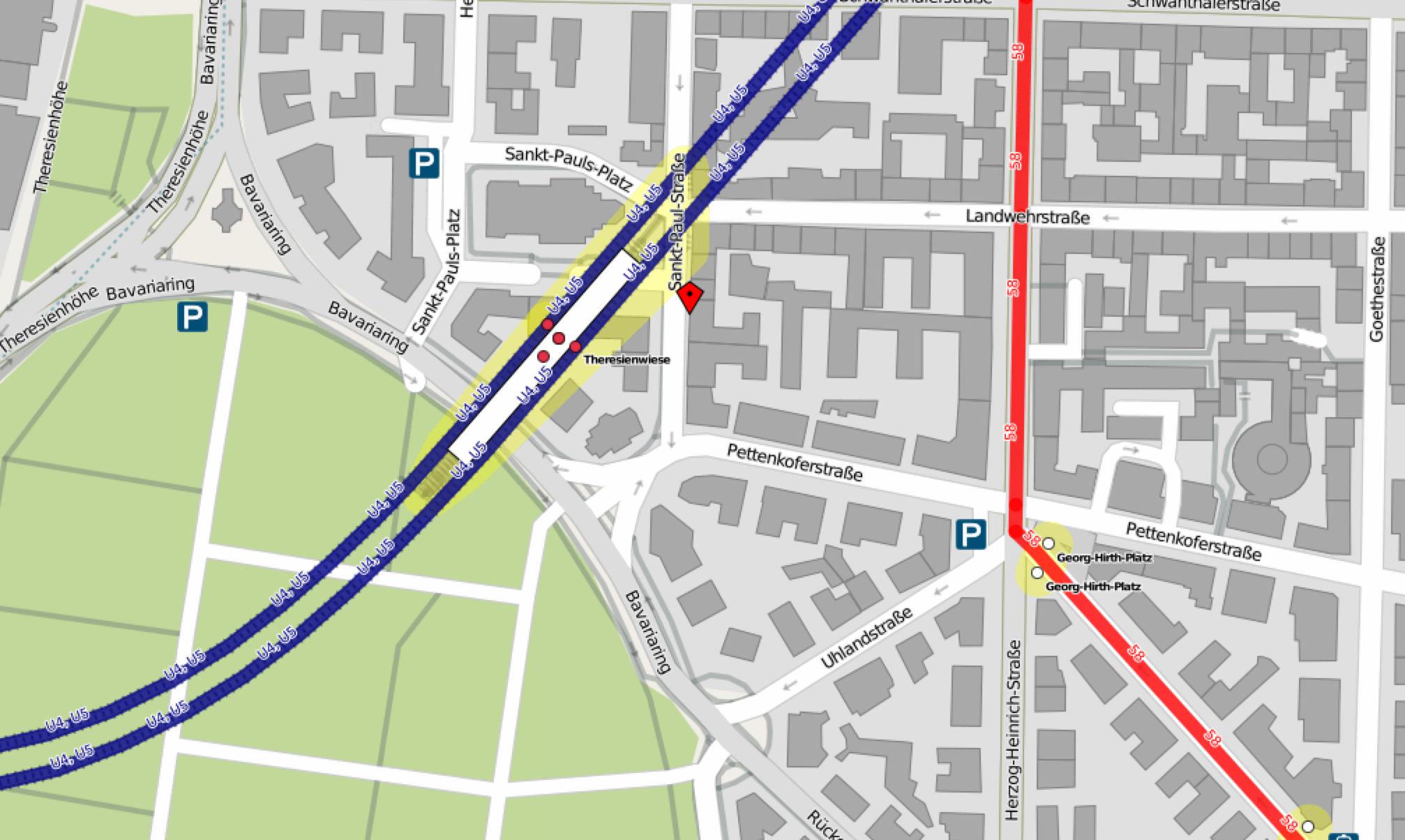 Anfahrt mit OpenStreetMap